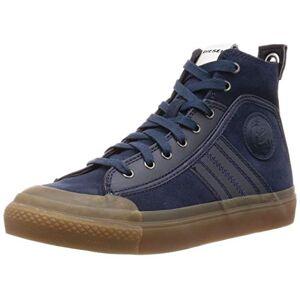 Diesel S-astico MC Logo-Sneaker Mid Zapatillas para Hombre, Azul Marino Medianoche, 7 US