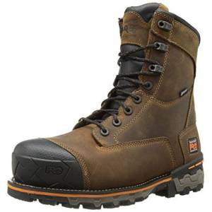 Timberland Pro Men's 8 Inch Boondock Composite Toe WP Industrial Work Boot,Brown Oiled Distressed Leather,15 M US