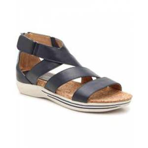 ADRIENNE VITTADINI Womens  Leather Open Toe Casual Slide, Navy, Size 9.5