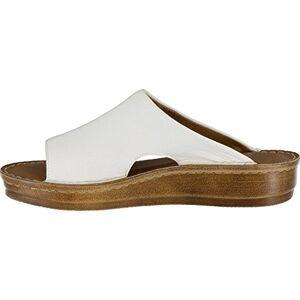 Bella Vita Women's Mae-Italy Slide Sandal,White Leather,US 9.5 M
