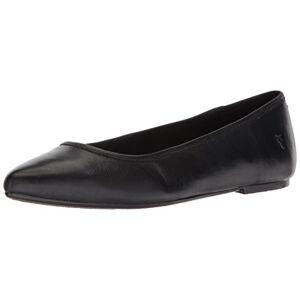 FRYE Women's Regina Ballet Flat, Black Soft Leather, 7 M US