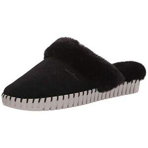 Skechers Sepulveda BLVD-Hang Easy Faux Fur Pantuflas con forro, Negro, 5 US