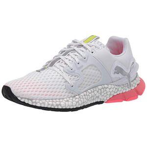 PUMA Women's Hybrid Sky Sneaker, White-nite Pink-Yellow Alert, 8.5 M US