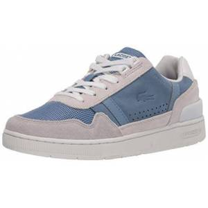 Lacoste T-Clip 120 3 Us SFA Tenis para Mujer, Blanco/Azul 8Off White/Blue, 9.5 US