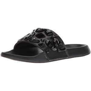 LFL by Lust for Life Women's LL-Stoned Flat Sandal, Black, 5 Medium US