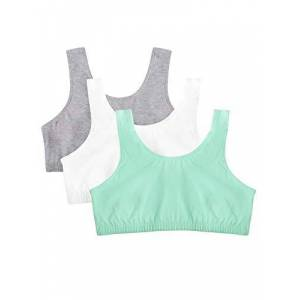 Fruit of the Loom Brasier Deportivo para Mujer (3 Unidades), Mint Chip/White/Grey Heather, 42