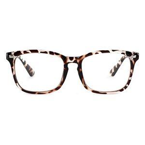 Cyxus lentes transparentes vidrios ordinarios clásico moda marco gafas unisexo(hombres/mujeres) ligeras cómodas (marco leopardo)