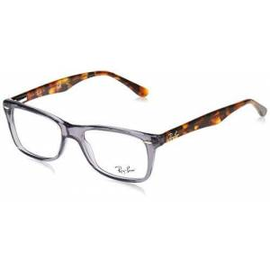 Ray-Ban RX5228 Marcos cuadrados para anteojos, Opal Grey/Demo Lens, 53 mm