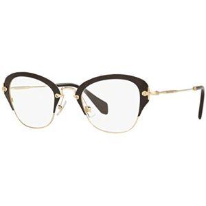 Miu Miu OMU 53OV Marco óptico para mujer, color negro