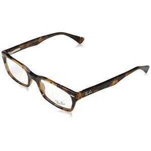 Ray-Ban  Monturas de gafas rectangulares no polarizadas con prescripción, color marrón ópalo havana, 50 mm