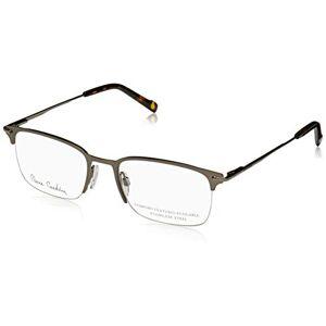 Pierre Cardin  Monturas de gafas para Hombre, Semimatte Dark Ruthenium, 53 mm