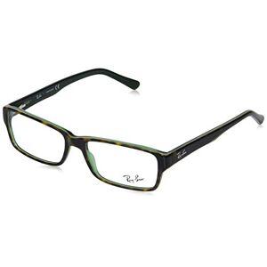 Ray-Ban  Gafas de sol rectangulares sin polarización, color marrón sobre verde La Habana, 52 mm