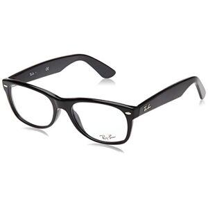 Ray-Ban RX5184 New Wayfarer Marcos para anteojos, Shiny Black/Demo Lens, 54 mm