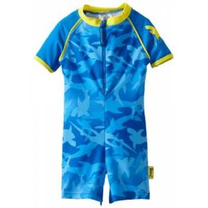 Baby Banz Boys One Piece Sunsuit, Fin Frenzy, 6 Months(00)