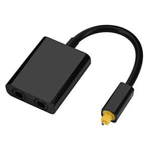 Haokaini Adaptador de Divisor de Audio ptico Digital de Doble Puerto Cable de Audio 1 Entrada 2 Salida