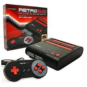 Retro-Bit RetroDuo Twin Video Game System V3.0 Black/Red Standard Edition