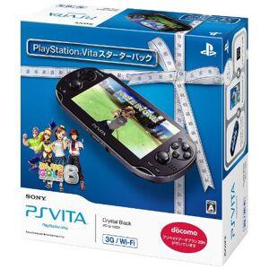 nitendow PlayStation Vita 3G/Wi-Fi Modelo CRYSTAL BLACK Starter Pack (pchj-10003)