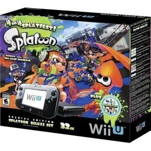 Nintendo Wii U 32GB Console Splatoon Special Edition Bundle Black
