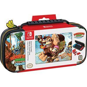 Bigben Interactive Switch Donkey Kong Funda de transporte Funda protectora de viaje de lujo Exterior de piel sintética Producto oficial de Nintendo