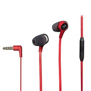 Kingston HyperX Cloud Earbuds Audífonos para gaming portátiles con micrófono para Nintendo Switch y Mobile Gaming (HX-HSCEB-RD)