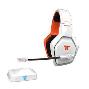 Tritton Katana 7.1 HD Biauricular Diadema Naranja, Color blanco auricular con micrófono Auriculares con micrófono (PC/Juegos, 7.1 canales, Biauricular, Diadema, Naranja, Blanco, Inalámbrico y alámbrico)