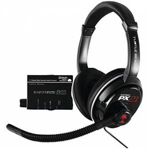 "Turtle Beach Ear Force DPX21 Audífonos con micrófono (Game console, Binaural, Head-band, Black, 2.5 mm (2/32"") + 3.5 mm (1/8""), Wired)"