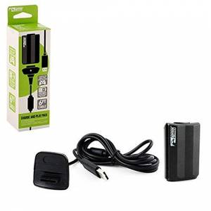 "KMD ""Charge and Play"" Charger for Xbox 360, Black Standard Edition"