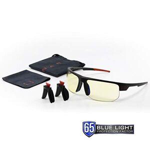 Gunnar Optiks Torpedo Gaming Glasses Block Blue light block 65% of harmful Blue light, 100% of UV rays. Not Machine Specific Amber Lens