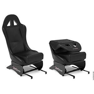 Extreme Simracing Extreme Sim Racing SEAT X Racing Simulador  Negro/Negro  Complemento para todos los soportes de rueda, mejor para modelos Extreme Simracing SPRO y SXT  Asiento plegable