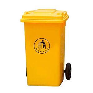 ZYCLL Plastic PlasticTrash Can, Papeleras de Ruedas, Park Hospital School LargeTrash Can 100L, 53.547.683CM Interior