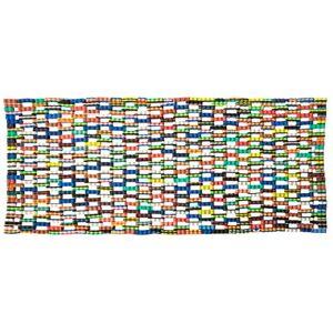 KALALOU Felpudo reciclado con chanclas, talla única, multicolor