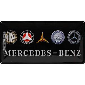 ART Letrero de metal, diseño de Mercedes Benz, 25 x 50 cm