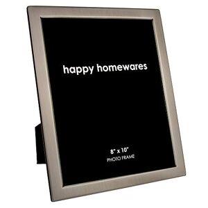 """Haysom Interiors Moderno y de Calidad de Peltre Cepillado contemporáneo de 8"""" x 10"""" Marco de Foto de una Sola Foto por Happy Homewares"""