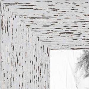 ArtToFrames 19x25 inch Eggshell Rustic Barnwood Wood Picture Frame, 2WOM0066-1343-YWHT-19x25