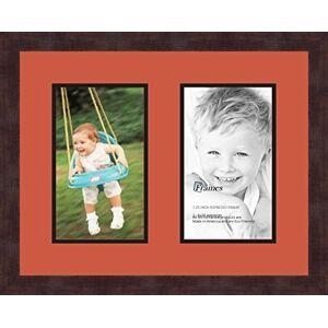 Arte a Marcos Doble-multimat 46-693/89-FRBW26061 Alfombrilla de Fotos con Collage Enmarcado Alfombra Doble con 2-6 x 10 Aberturas y café exprés Marco