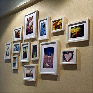 H.yina Pared de fotos creativa retro Blanco y negro Marco de foto de combinación simple Pared con película de película 10 marcos Marco de collage de fotos múltiples Pared Sala de estar Conjunto de marcos de