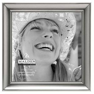 Malden International Designs Concourse Pewter Metal 5 x 5 Picture Frame
