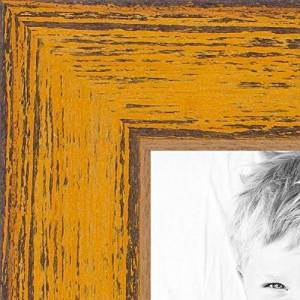ArtToFrames 8x13 inch Butterscotch Rustic Barnwood Wood Picture Frame, 2WOM0066-1343-YYEL-8x13