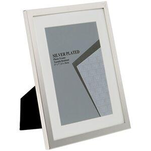 Viceni UNPF39-68 Marco de Fotos bañado en Plata con Soporte Blanco de 15,2 x 20,3 cm