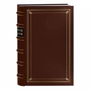 Pioneer Photo 204-Pocket Ring Bound Photo Album for 4 by 6-Inch Prints, Tan Bonded Leather with Gold Accents Cover