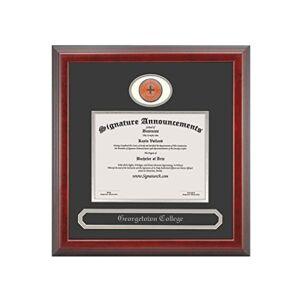 Signature Announcements Georgetown-College Marco para Diploma de graduación, 50,8 x 50,8 cm, Color Cereza