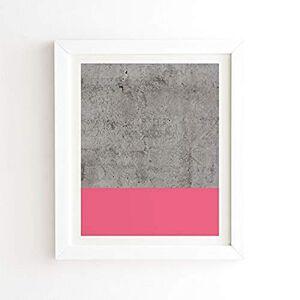 """DENY Designs Emanuela Carratoni Hormigón con diseño Moderno, White Frame, 8"""" x 9.5"""", 1"""