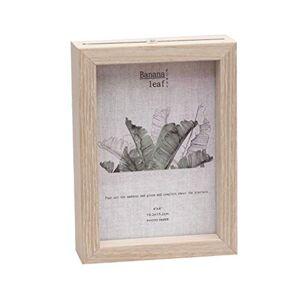 VOSAREA Marco de fotos para muestra de plantas (madera)