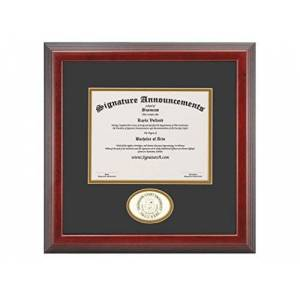 Signature Announcements Georgian-Court-University Marco de Diploma de graduación de 16 x 16 Pulgadas, Color Cereza