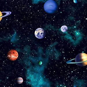Arthouse Kids Cosmos Space Planets Papel Pintado, Color Gris