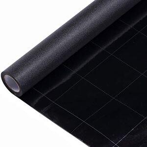 VELIMAX Película opaca para ventana con adherencia estática, color negro, 100 % bloqueador de luz sin pegamento (89,9 x 400 cm)