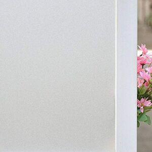 SNNH Transmisión De Luz Película De Ventana, Esmerilada Privacidad Vinilos para Cristales para Oficina Baño Opaco Etiqueta De La Ventana-Matorral blanco-60x500cm(24x197inch)
