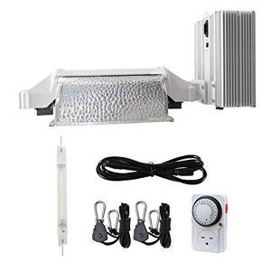 Hydro Crunch 100110-ZH-KIT Sistema de Luces de Crecimiento de Estilo Cerrado HPS E-Series de 1000 vatios, 120 voltios/240 voltios con lámpara, Color Blanco