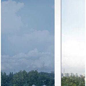Coavas Película de espejo de una sola dirección, no adhesiva, control de calor, bloqueo del sol, reducción de reflejos, anti UV, tinte de ventana extraíble para el hogar y la oficina, color negro