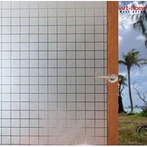 Arthome WALL DECOR Arthome Película Decorativa de Vidrio Vinilo 90CM x 254CM Pegatina de Ventanas,Proteger La Privacidad Adherencia Electrostática,Anti UV,Cuadrados Traslúcido Adecuado Hogar Para Sala De Estar Baño Dormitorio Cocina Oficina